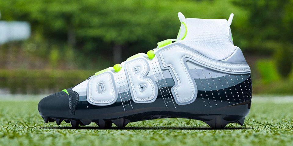 dc73be517a1 OBJ s Newest Uptempo Cleats Channel the Nike Air Max 95