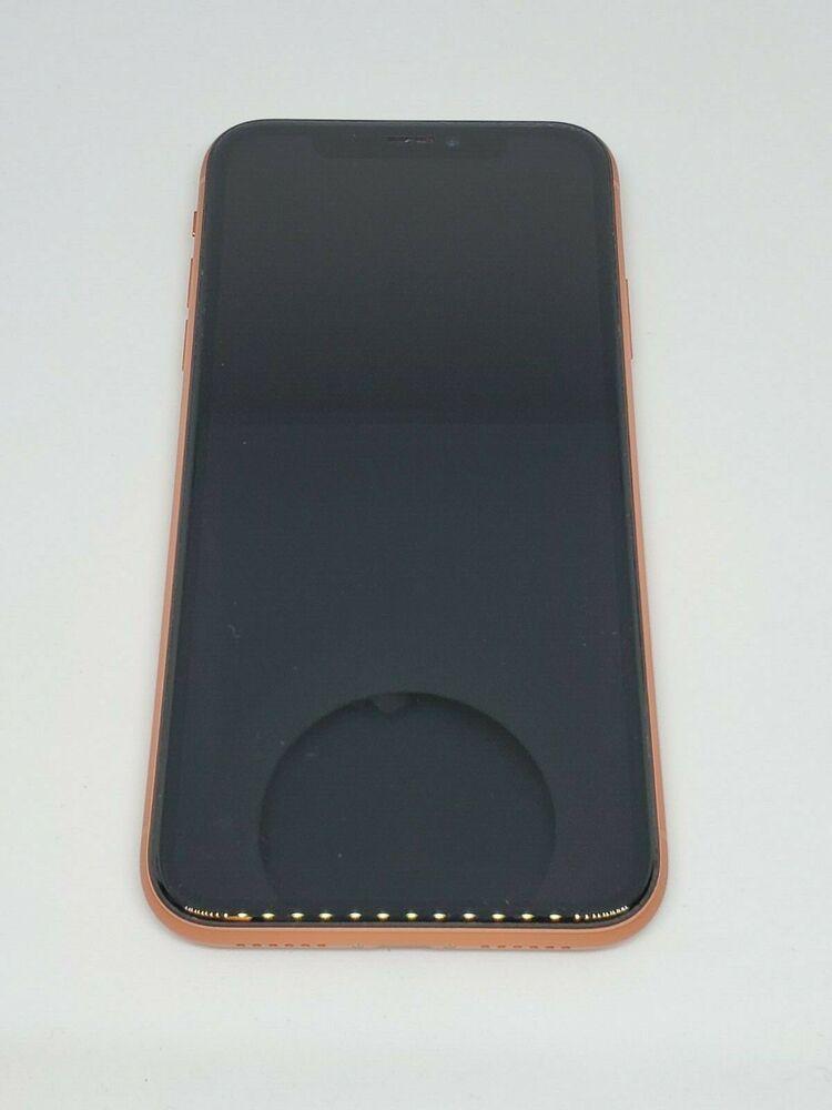 Apple iphone xr 128gb coral pink orange att cricket