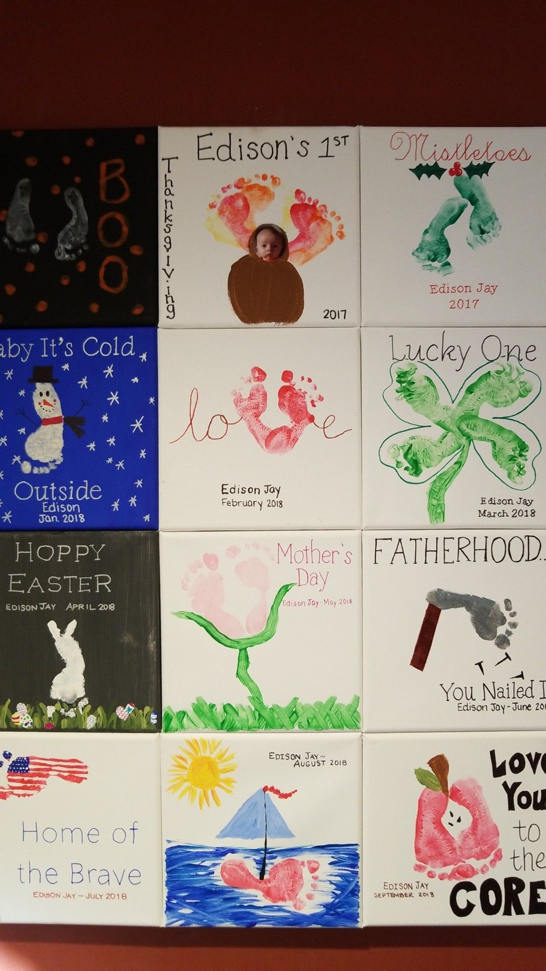 20++ Baby footprint art projects ideas