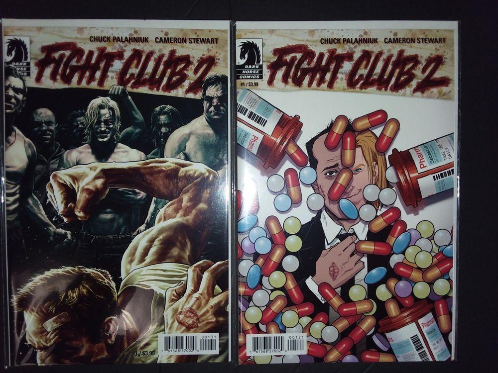 231e7f29b1727 Dark Horse Comics FIGHT CLUB 2 #1 & #1 VARIANT EDITION var ed comic ...