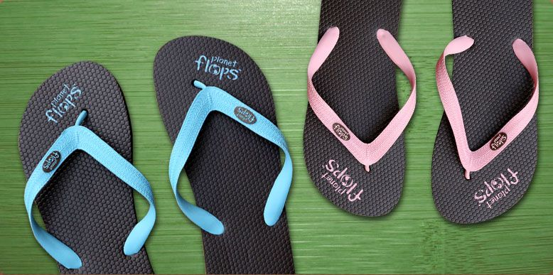 Looking for an eco flop for summer? Planet Flops rubber comes from tapping the milky sap from rubber tree bark and has more flexibility and cushion than the artificial stuff…