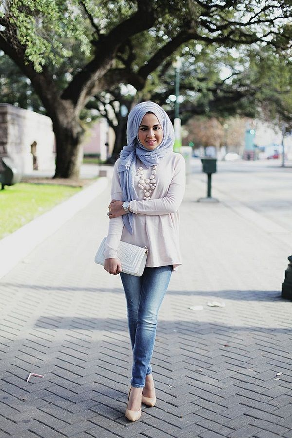 Latest Casual Hijab Styles with Jeans 2016,2017 Trends