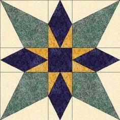 Oklahoma star quilt block | Quilts. Block Library ... : diamond star quilt block pattern - Adamdwight.com