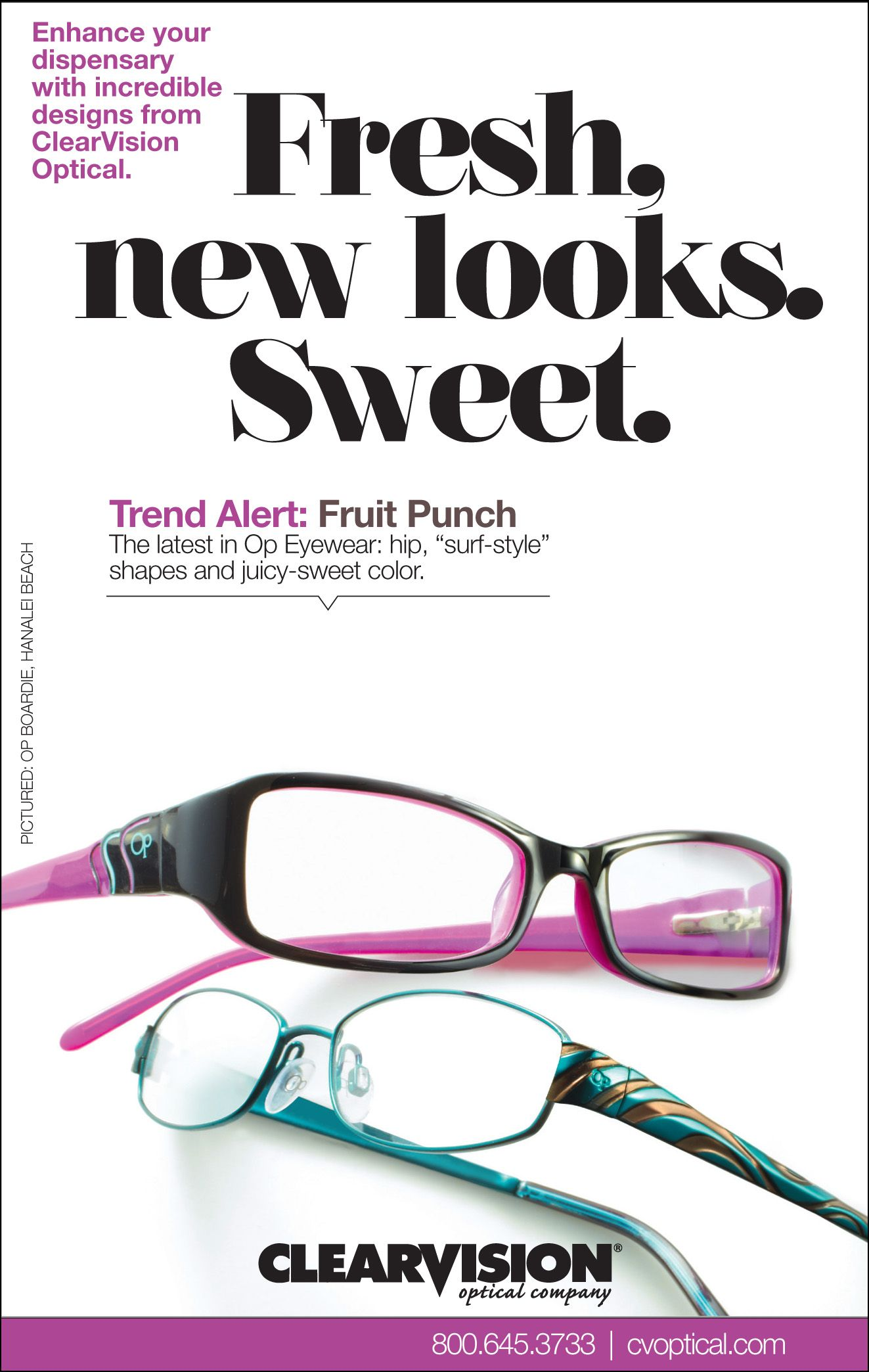 Fruit Punch as seen in Op colorful frames. Kids glasses