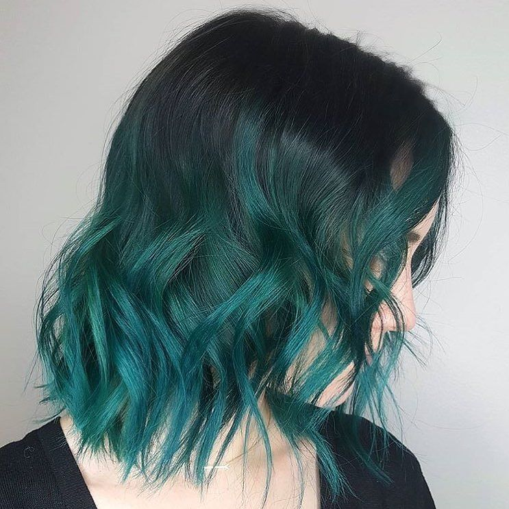 30 Fresh Green Hair Ideas Mint Lime Emerald Pastel Dark With
