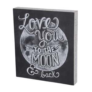 Love You To The Moon And Back Chalk Sign #happyhalloweenschriftzug