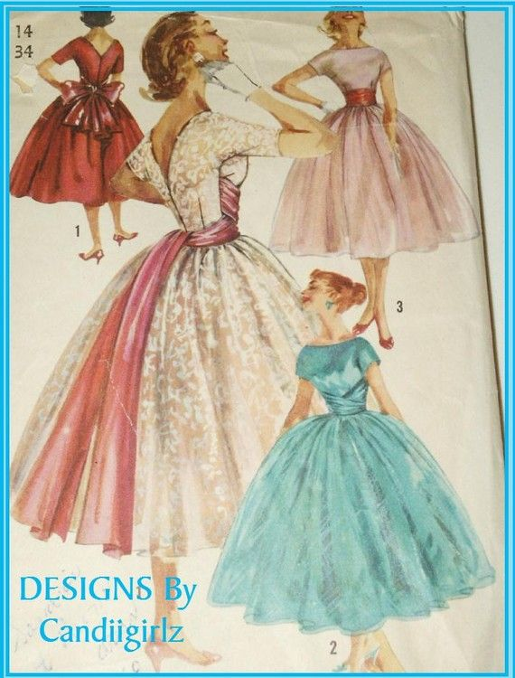 1950's vintage pattern with wrap waist.