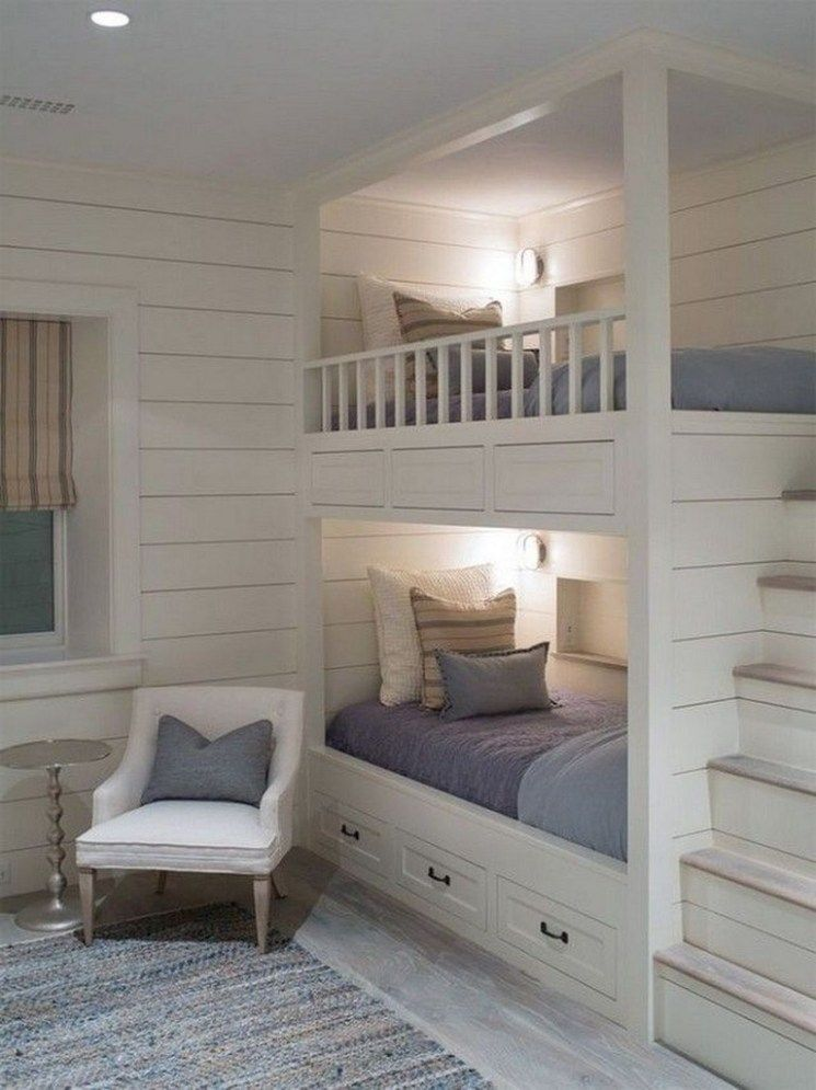 Best 40 Lovely Bedroom Ideas For Home Bunk Beds Built In 400 x 300
