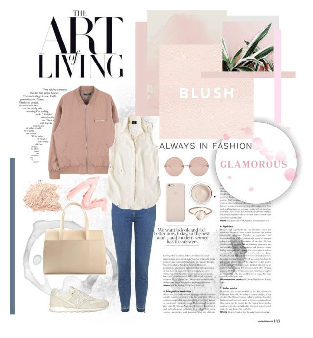 """""""Blush"""" by language-of-dreams ❤ liked on Polyvore featuring Topshop, Mossimo, New Balance, Black Apple, Linda Farrow, DESA 1972, Dr. Sebagh, Parisi, modern and women's clothing"""