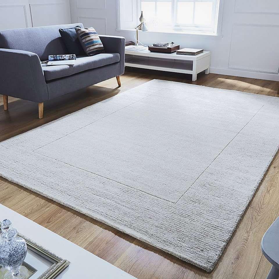 Extra Large Boston Border Wool Rug Dunelm