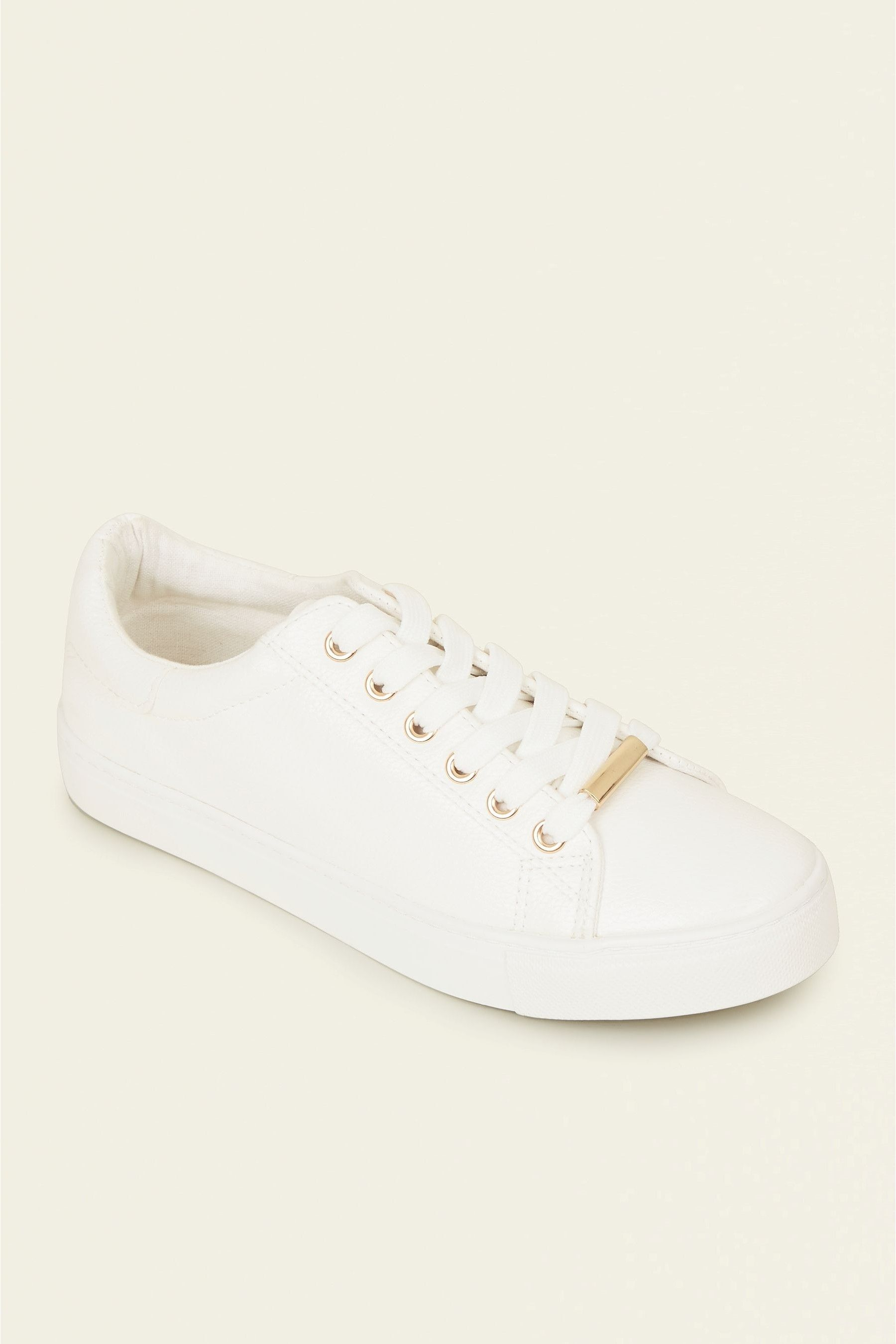New Look PU Lace-Up Trainers   Lace up