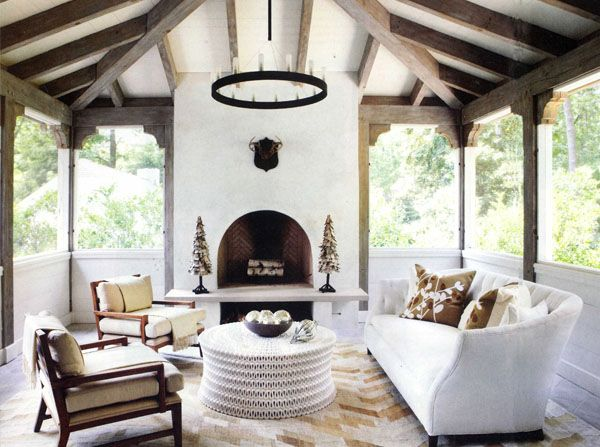 Pyramid hip roof with exposed rafters. Love Yvonne McFadden ...