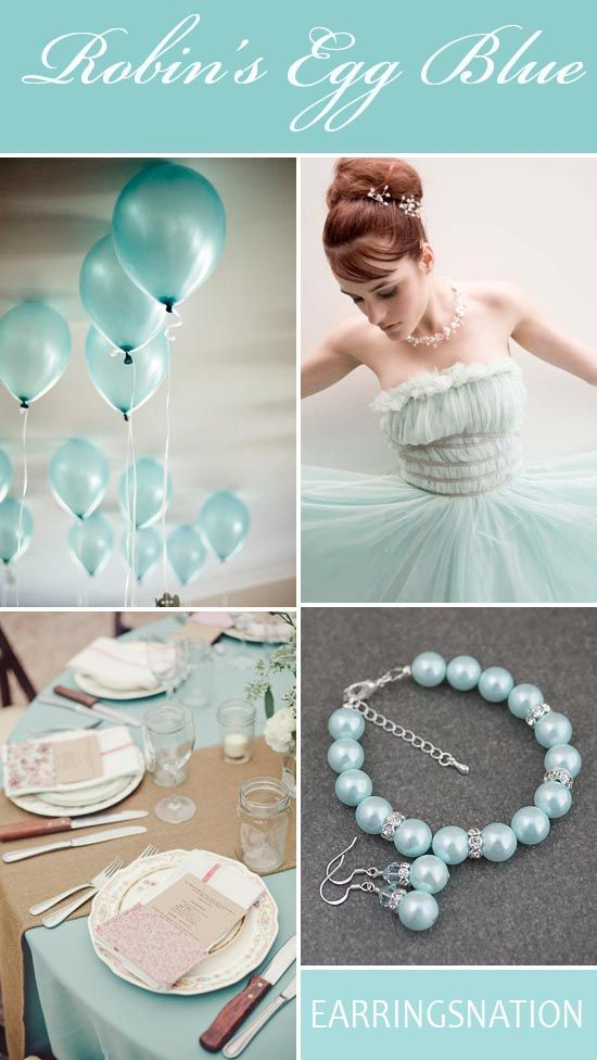Robin's Egg Blue Wedding Inspiration Tiffany Blue Weddings