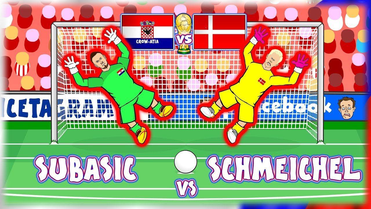 Subasic Vs Schmeichel Croatia Vs Denmark Penalty Shoot Out World Cup Penalty Shoot Out Penalty Shot Management Games