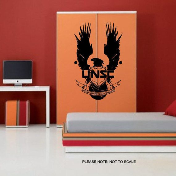 Halo Unsc - Wall Art Sticker - 3 sizes   Interior walls, Airmail and ...