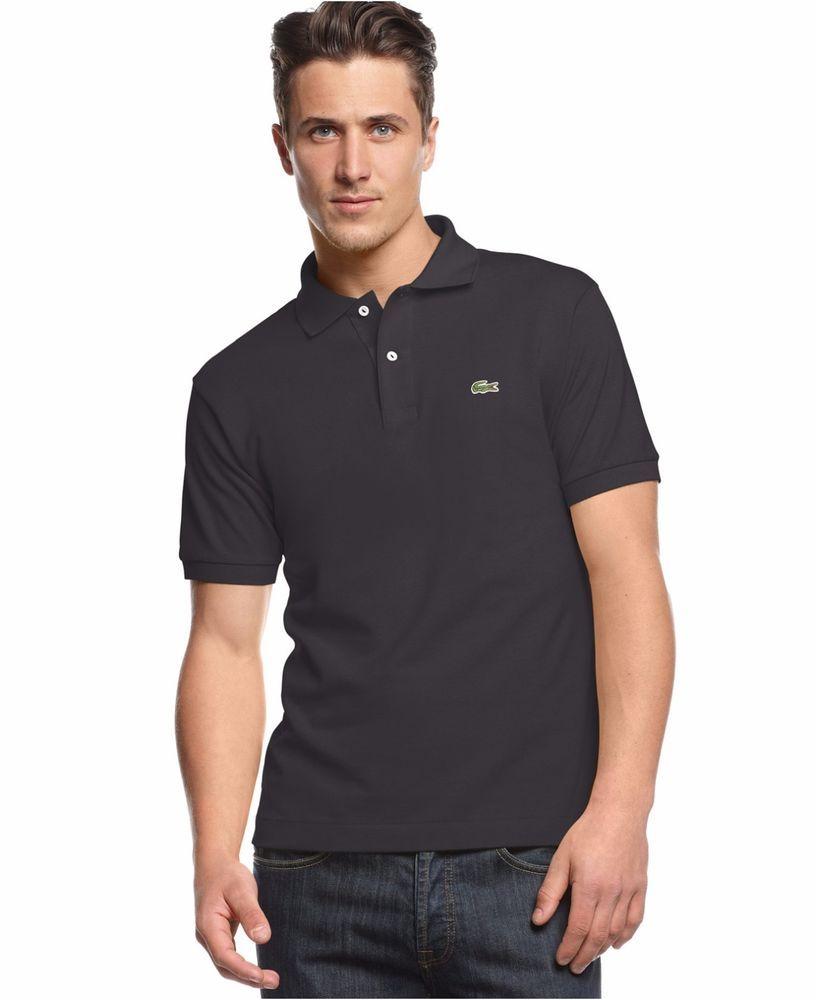 c82879055 LACOSTE Black POLO Shirt 7 COTTON Mens PIQUE Logo PERU Sz 5191L Size XL  Classic   Lacoste  PoloRugby