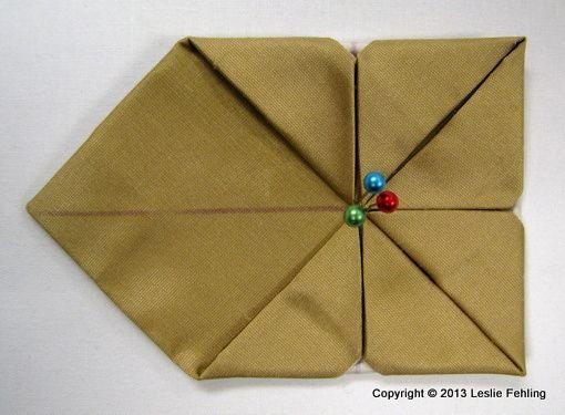 """Photo of Alltagskünstler: Fabric Origami Schritt für Schritt – """"Fenchel"""""""