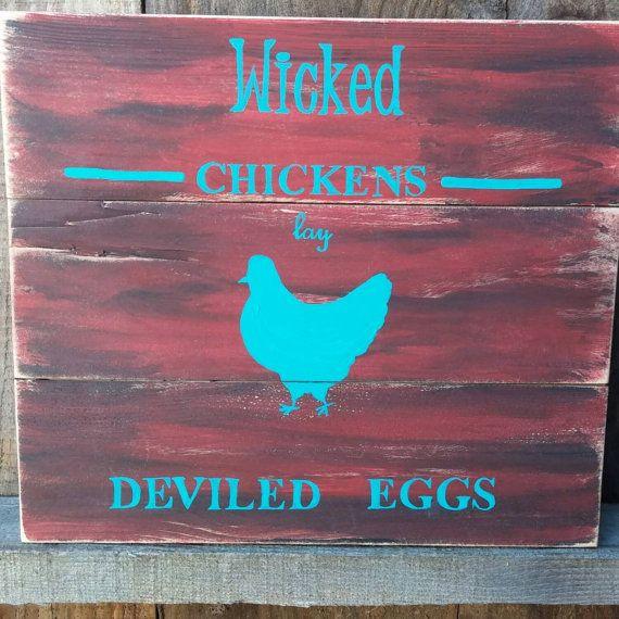 Böse Hühner rustikale Primitive Bauernhaus von SawmillCreations ...