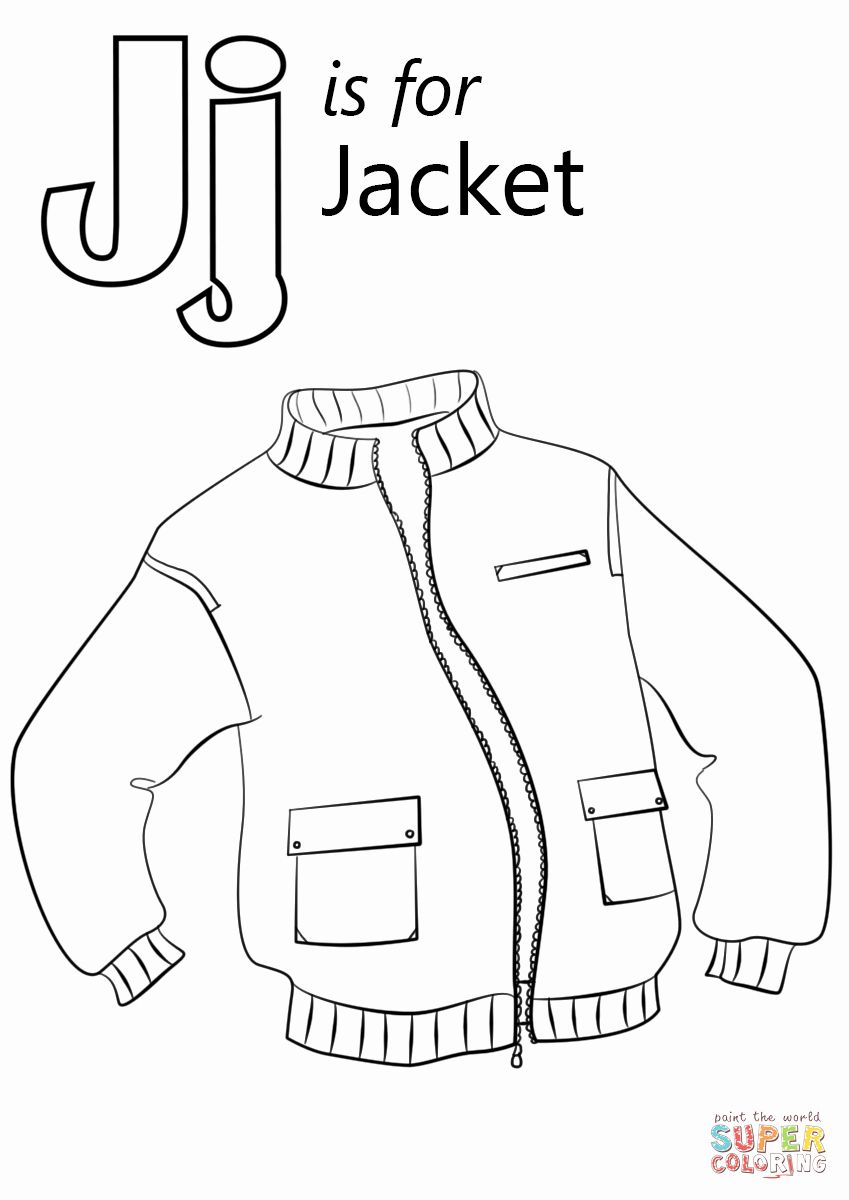 Letter J Coloring Sheet Best Of Letter J Is For Jacket Coloring Page Abc Coloring Letter J Abc Coloring Pages