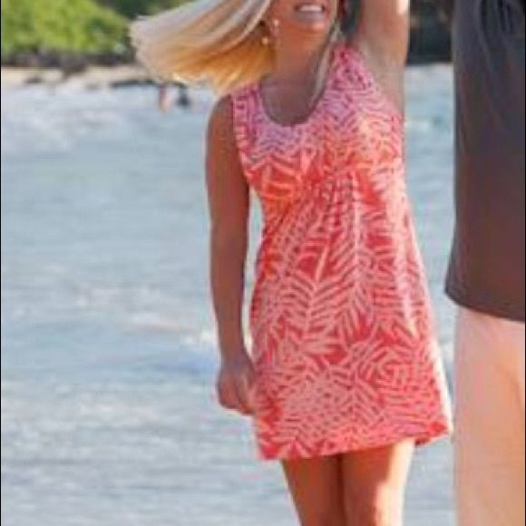 Tommy Bahama dress. Worn only once Coral pattern sun dress. Worn once for photo shoot in Maui Tommy Bahama Dresses Mini