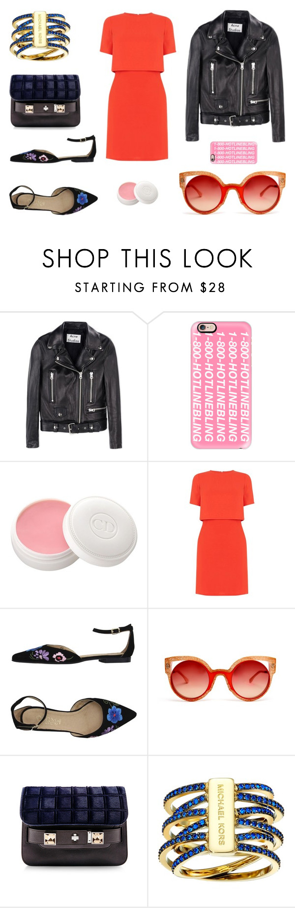 """""""Untitled 59"""" by hm83 ❤ liked on Polyvore featuring Acne Studios, Casetify, Christian Dior, Oasis, Dogma, Fendi and Michael Kors"""