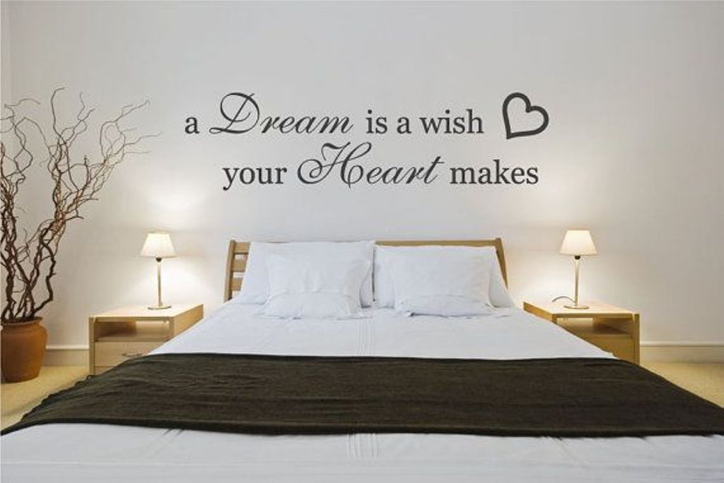 Decorative Wall Decals Quotes for Modern Bedroom Design