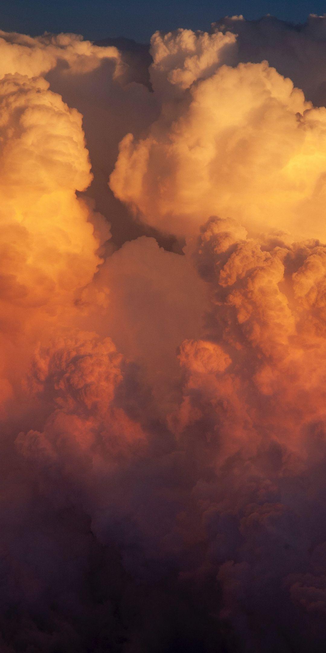 Clouds Orange Sky Wallpaper Sky Aesthetic Cloud Wallpaper