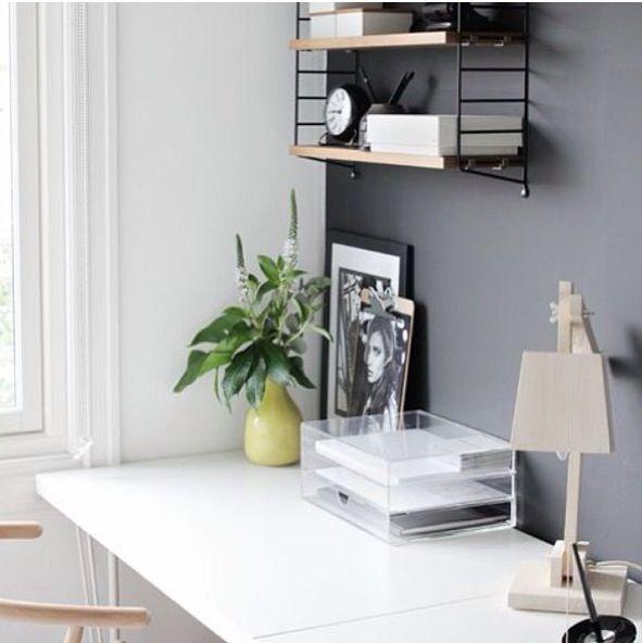 Kontor Inspirasjon til kontoret Pinterest Spaces and Walls