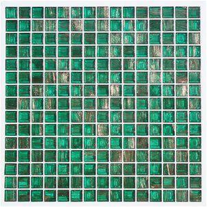 9 95 Aura Metallic Aventurine Glass Mosaic Tile Emerald