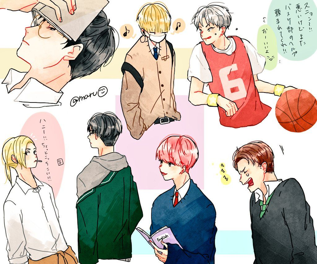 Seventeen คนดง イラスト 韓国 イラスト ジョンハン