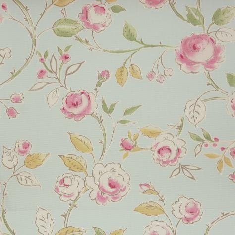 Clarke & Clarke Romance Fabrics Milly Fabric - Duckegg - F0384/03