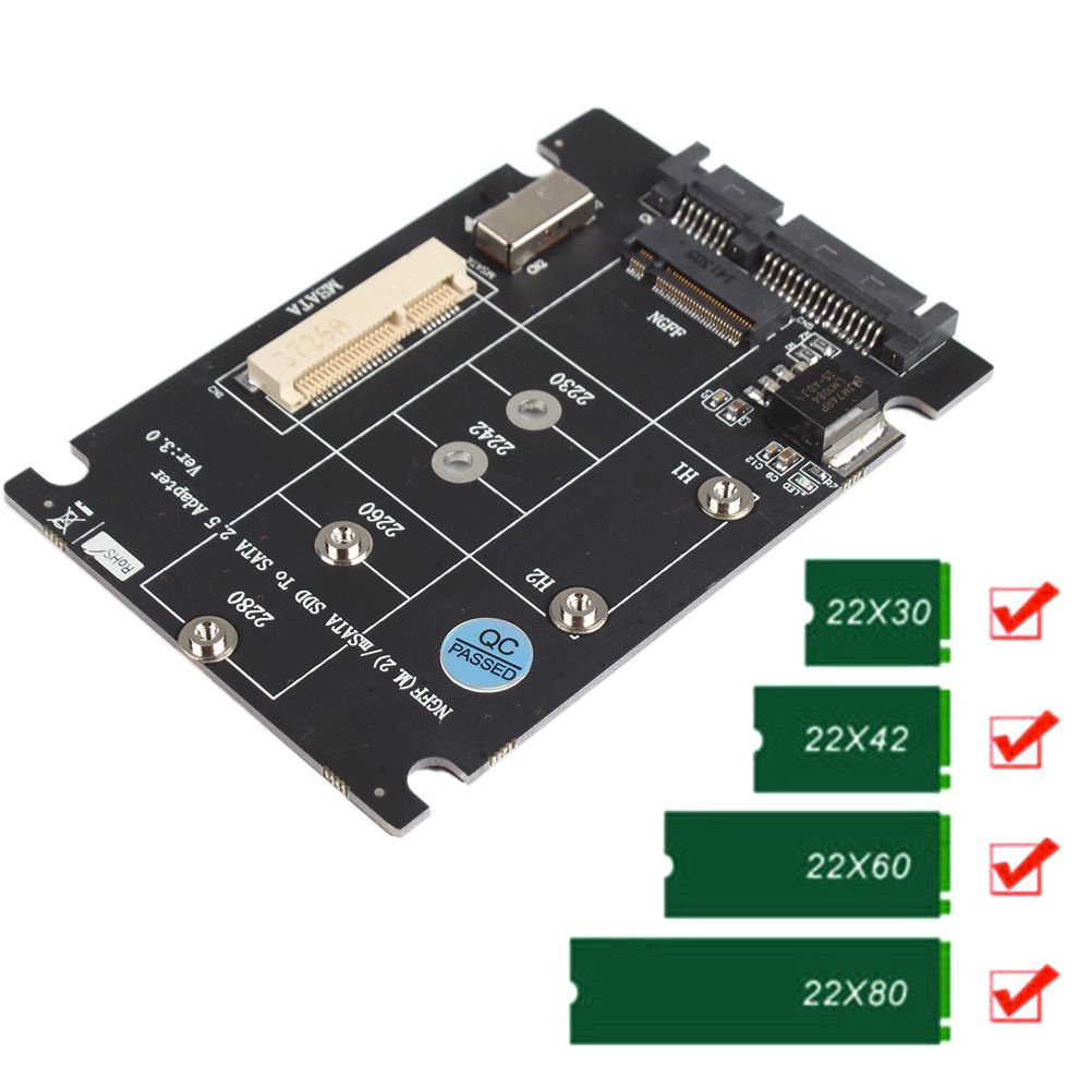 2 In 1 Combine Mini Pci E M 2 Ngff Amp Msata Ssd To Sata 3 0 Iii Adapterv Ssd Mini Adapter