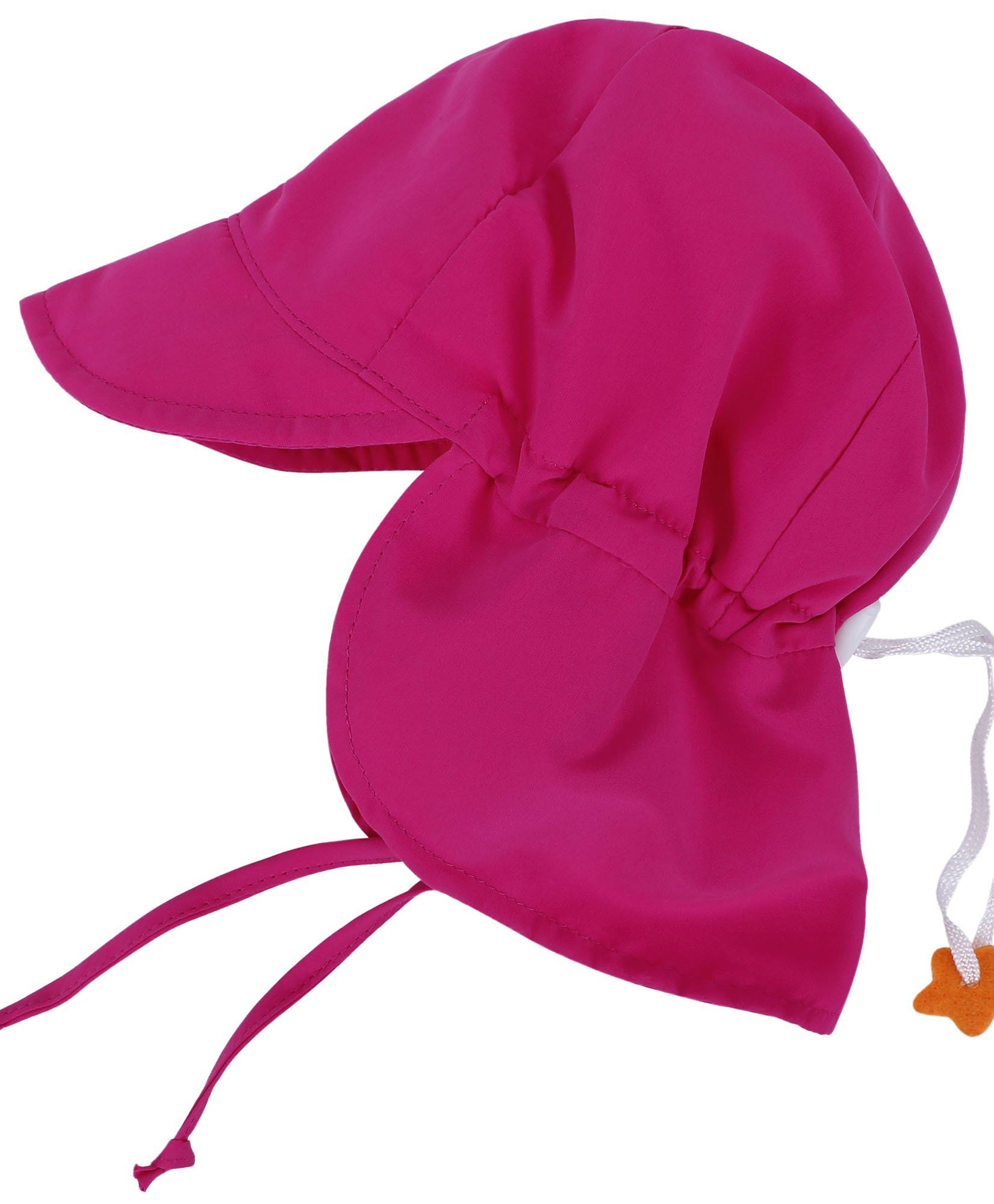 SimpliKids UPF 50+ UV Ray Sun Protection Baby Hat w/ Neck Flap & Drawstring,Rose Pink,12-24Months