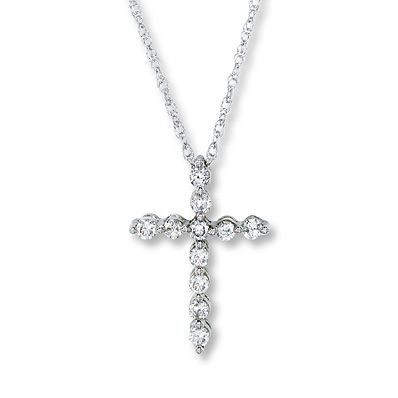 My diamond cross necklace; a Valentine's Day gift from my husband one year. I wear it almost every day.