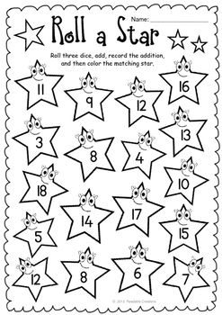 Roll A Star Addition And Subtraction Freebie Free Math Lessons Addition And Subtraction Free Math