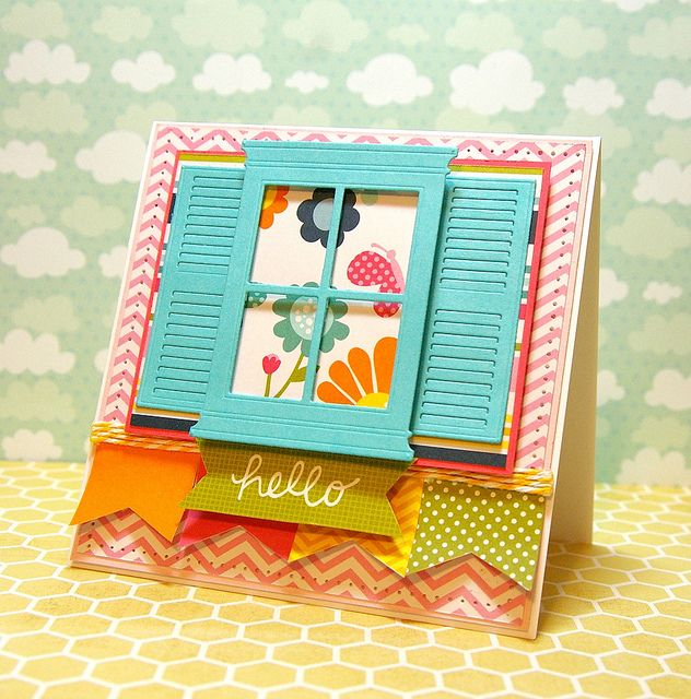 a card by Tobi Crawford using Pebbles Inc papers, Memory Box dies and a sketch from iSpy sketches.