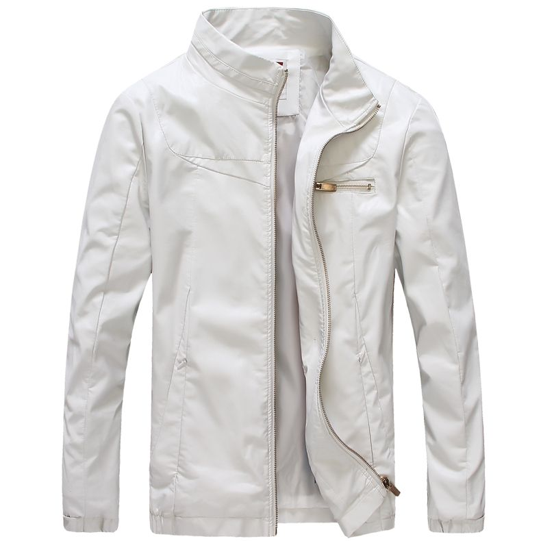 Mens White Leather Jacket Photo Album - Fashion Trends and Models