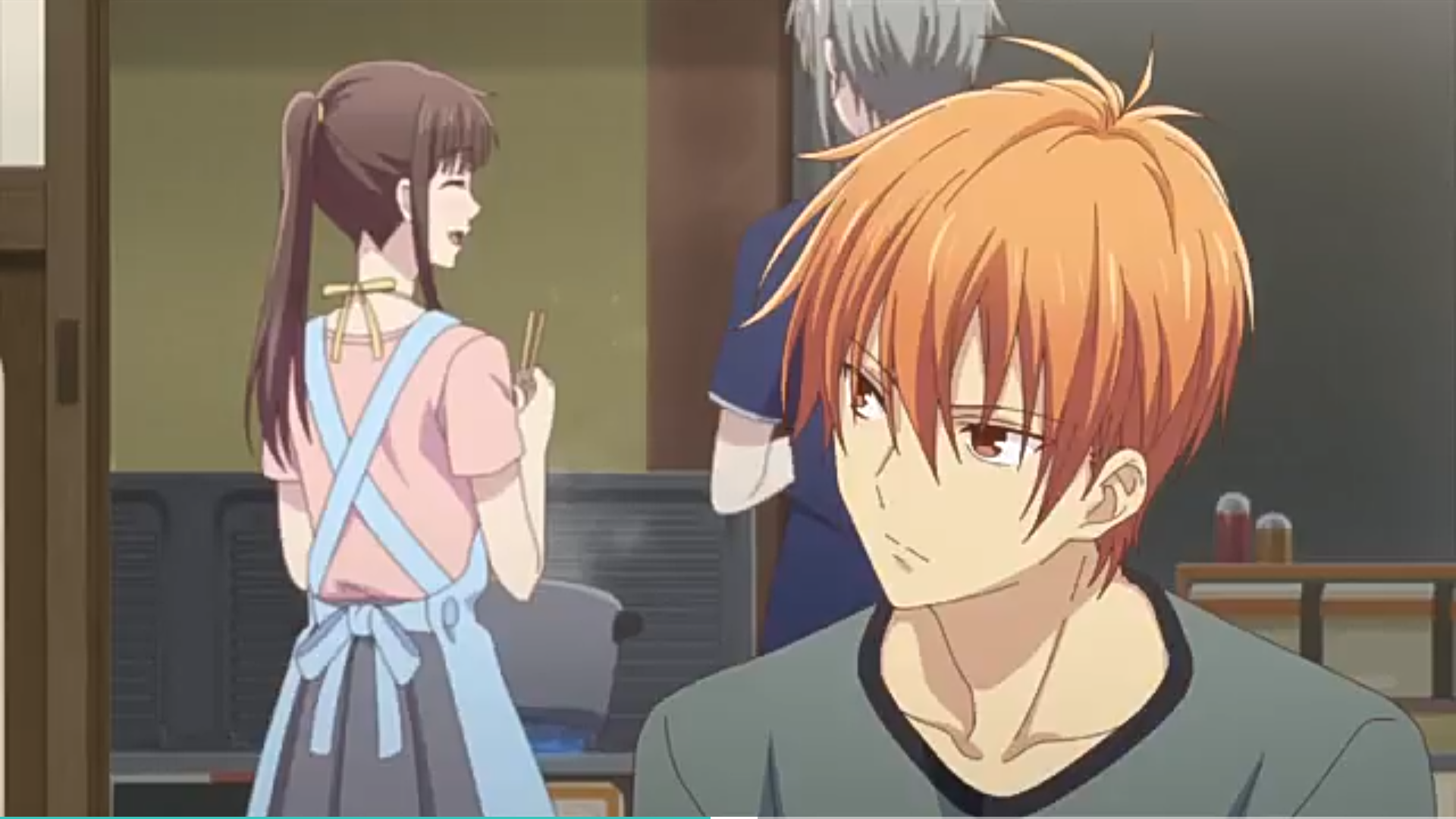 Kyo looking at Tohru in 2020 Fruits basket anime, Fruits