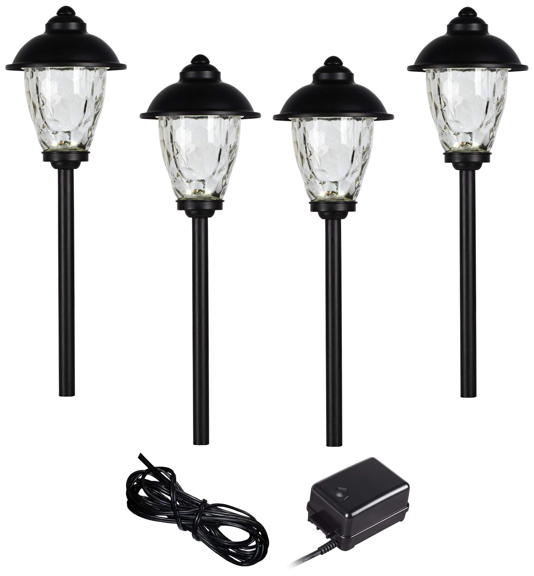 Landscape Lighting Concord 6 Piece Black Complete Led Landscape Lighting Set Led Landscape Lighting Landscape Lighting Kits Landscape Lighting