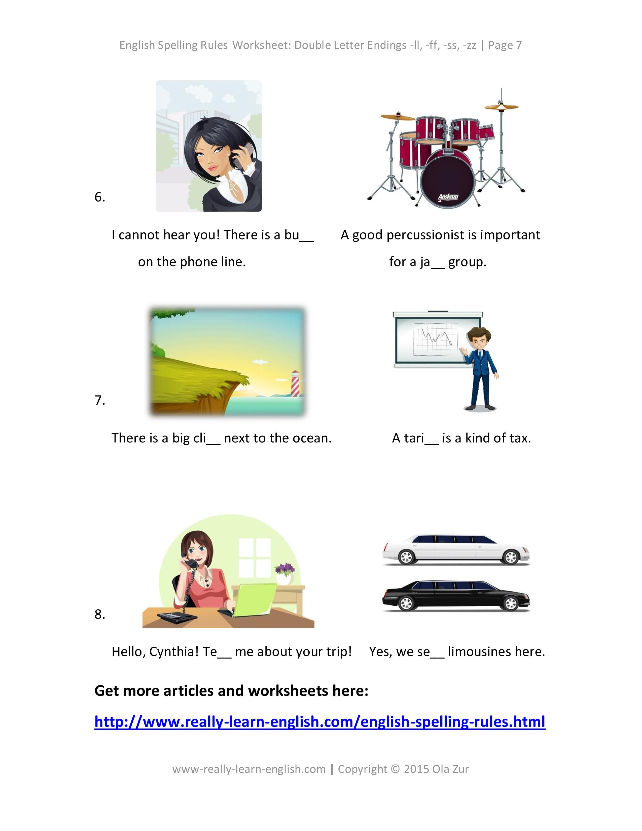 The Complete List Of English Spelling Rules Lesson 12 Double Letter Endings Ll Ff Ss Zz