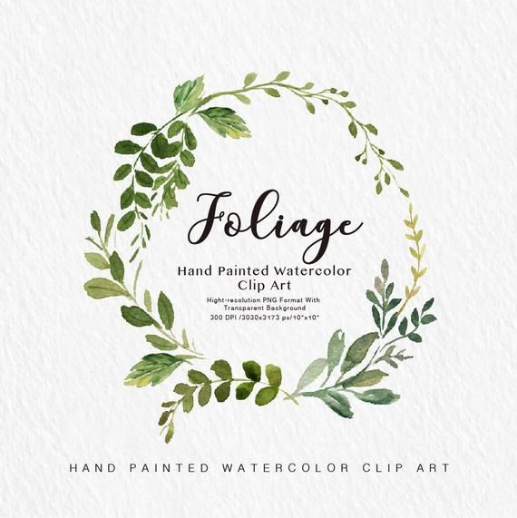 Photo of Watercolor leaf clip art leaf / small set / custom PNG files / hand painted / wedding design / spring