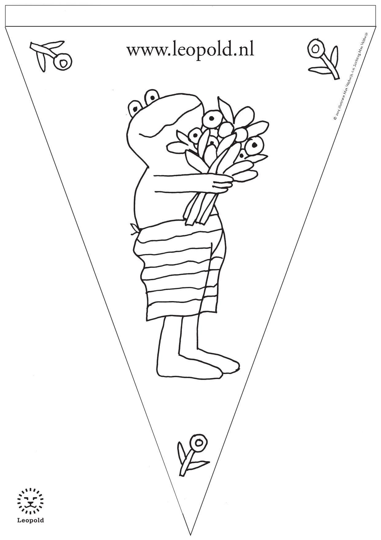 Kleurplaat Vlag 2014 1 Jpg 1240 1754 Kikker Thema Kikker Eenhoorn Behang