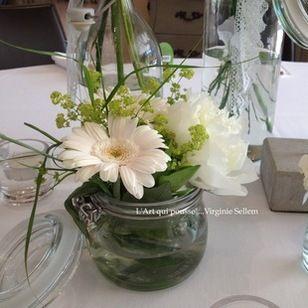 Mariage boh me fleurs de jardin d coration - Composition florale anniversaire ...