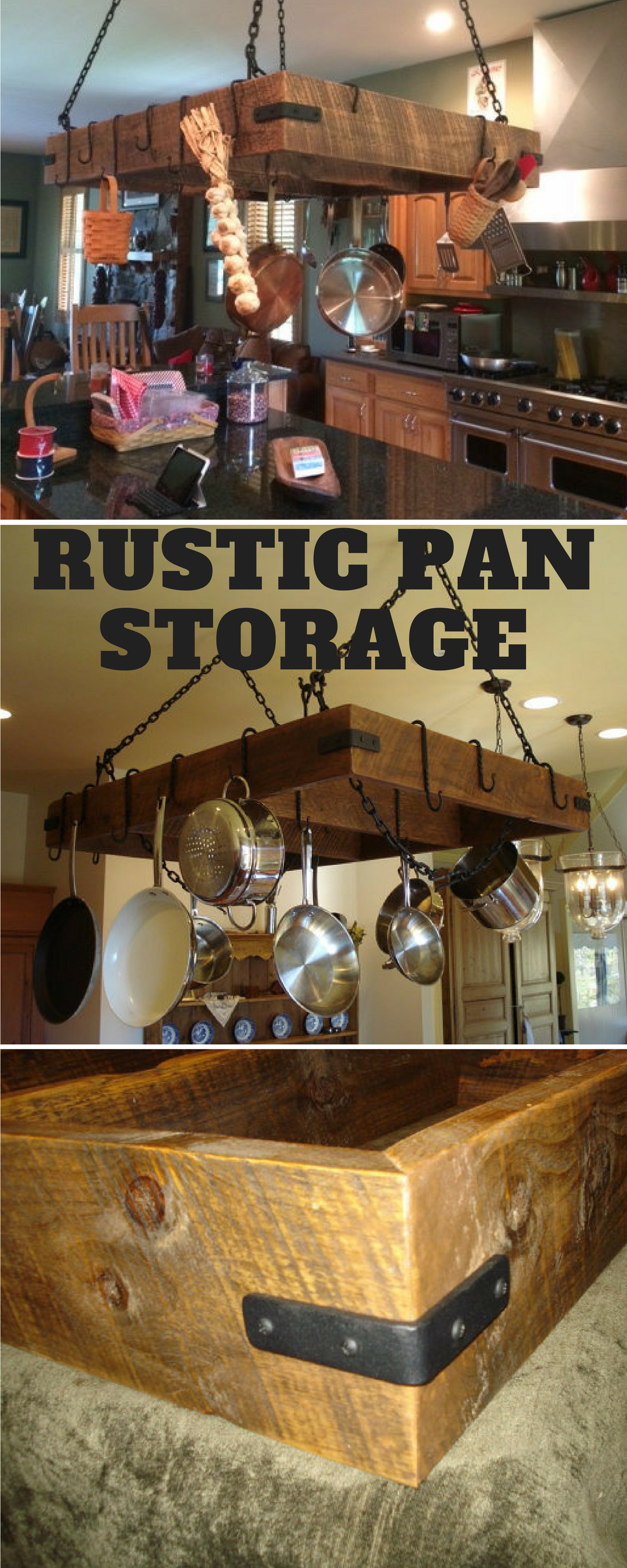 custom made pot rack over hanging your kitchen island or ...