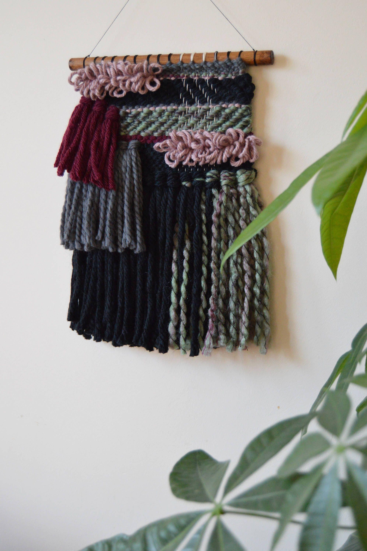 Woven wall hanging hand woven tapestry modern weaving contemporary wall art woven interiors - Wandbehang modern ...