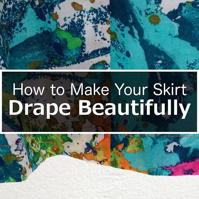 The pros use this technique to make clothing drape beautifully. There's no reason we can't use it on our self-made clothing. Tutorial is up on the blog today. #sewing #sewingtip #sewingtechnique #Ilovesewing