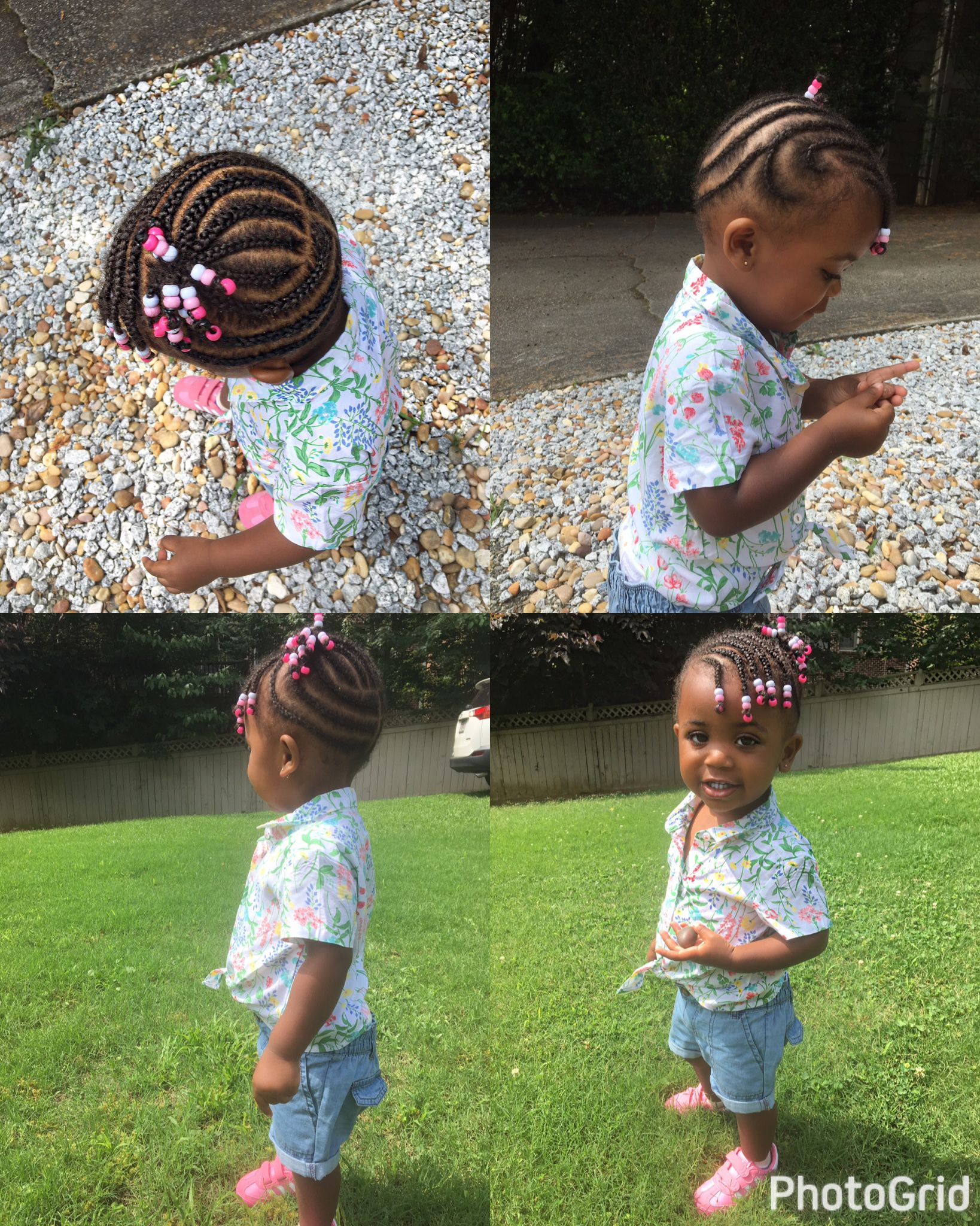 African american girl natural hairstyle braid and beads childrenus