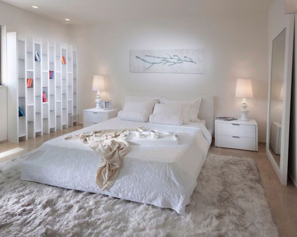 25 all white bedroom collection for your inspiration low beds white bedroom decorating a - White Bedroom Decorating Ideas