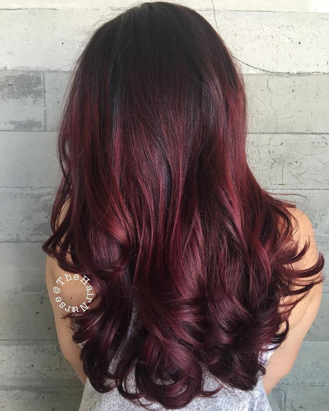 45 shades of burgundy hair: dark burgundy, maroon, burgundy with