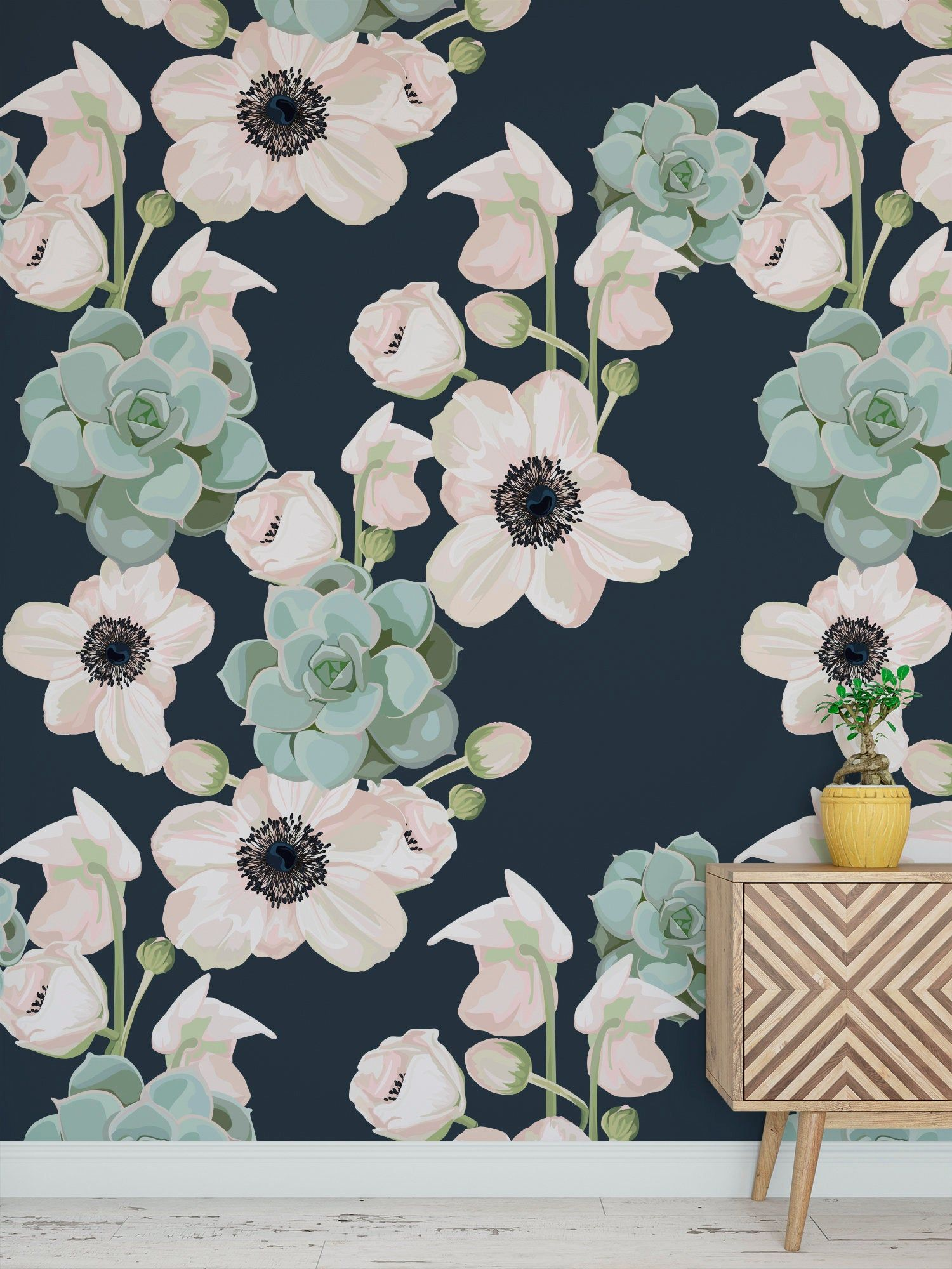 High Quality Peel And Stick Removable Self Adhesive Wallpaper Etsy Peel And Stick Wallpaper Floral Wallpaper Self Adhesive Wallpaper
